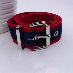 [No Brand] Red & Blue Belt w/Grommet Style Holes